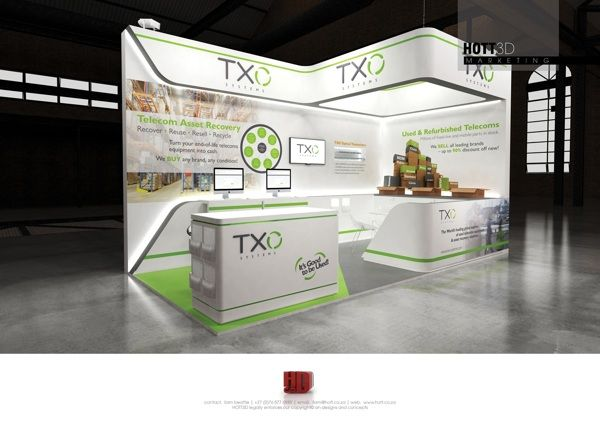 School Exhibition Stall Design : Well lit branded booth trade show ideas 장소