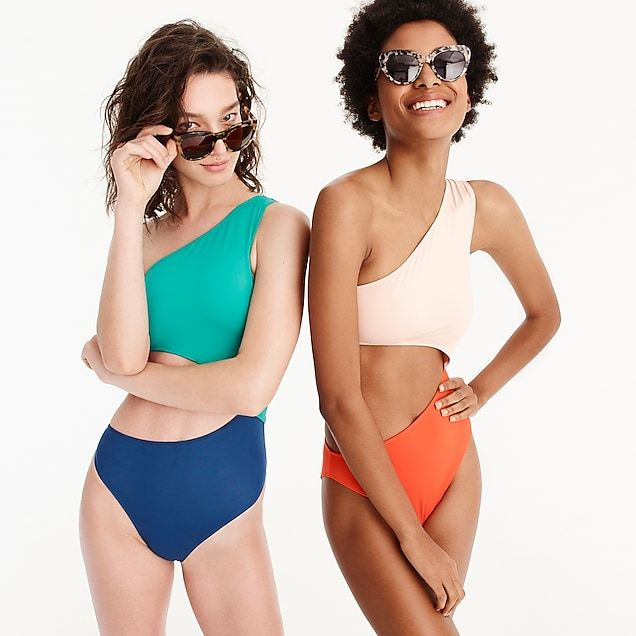 e6d411753360f women's j.crew playa colorblock tilden cutout one-piece swimsuit - women's  swimwear