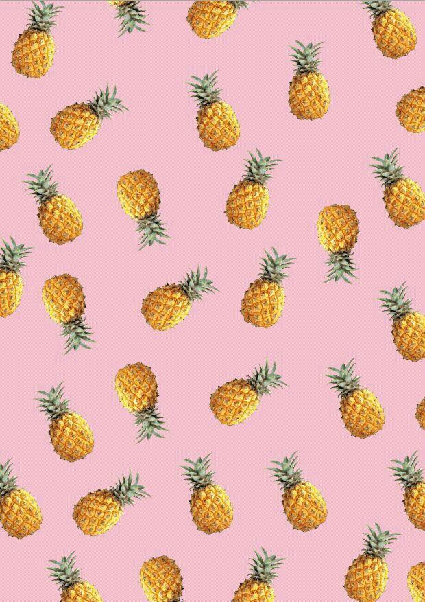 On We Heart It Pineapple Wallpaper Cute Pineapple Wallpaper Pineapple Backgrounds