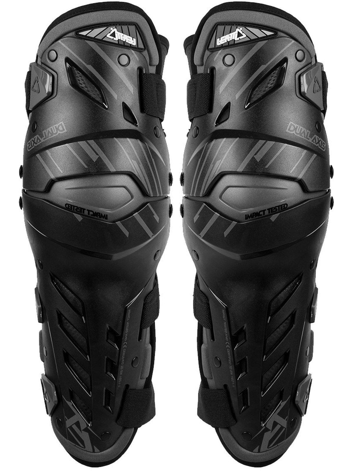 Leatt Black Dual Axis Pair of MX Knee Guard Leatt