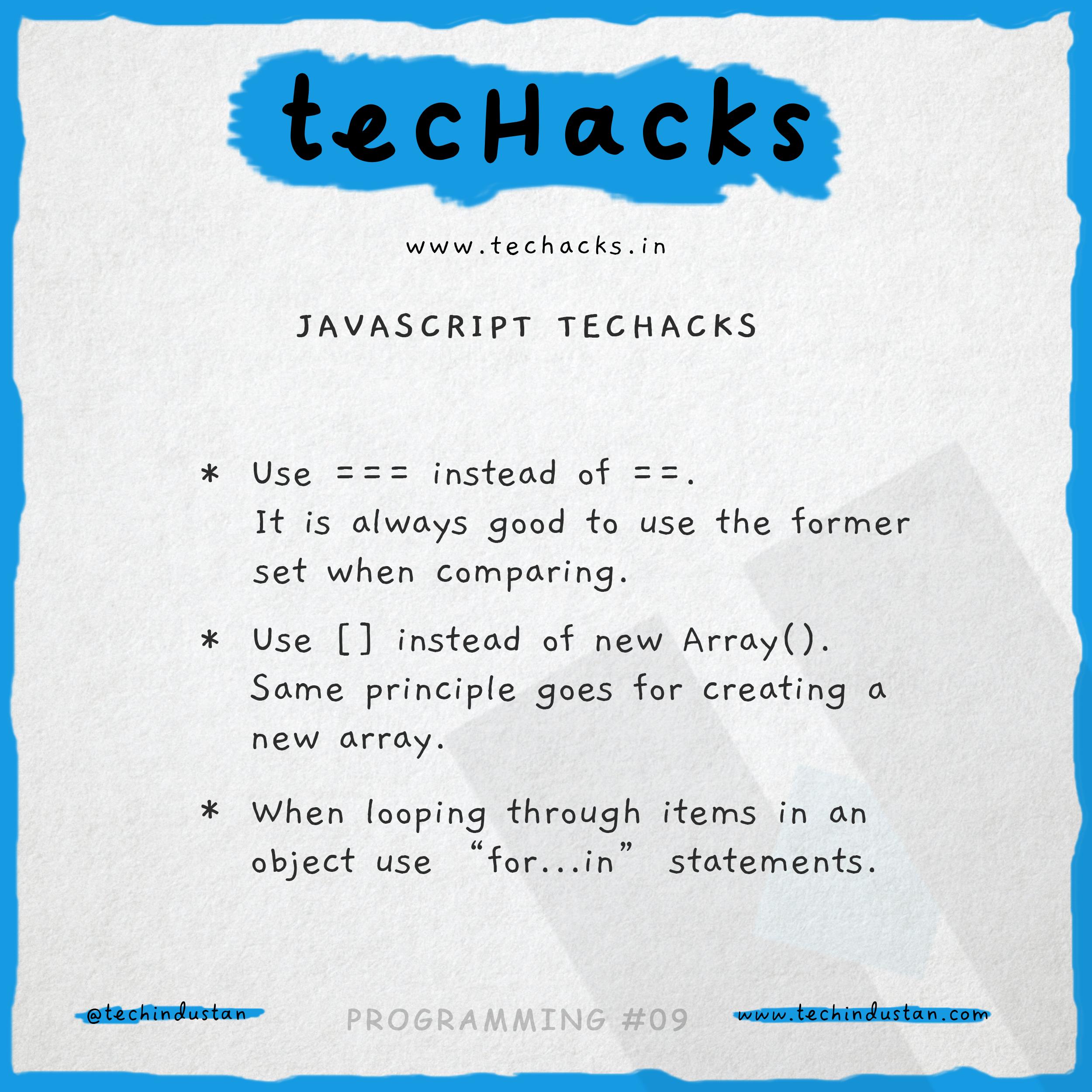 Some basic tips for JavaScript Beginners | tecHacks | Tech