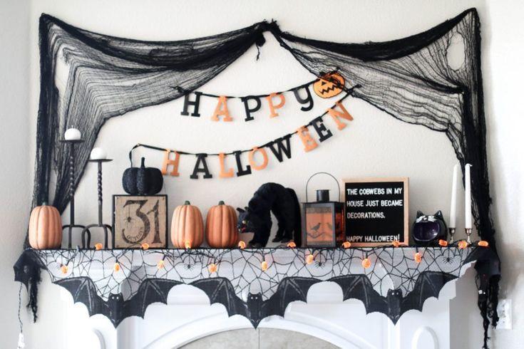 Halloween Mantel Decor Positively Oakes Blog Pinterest