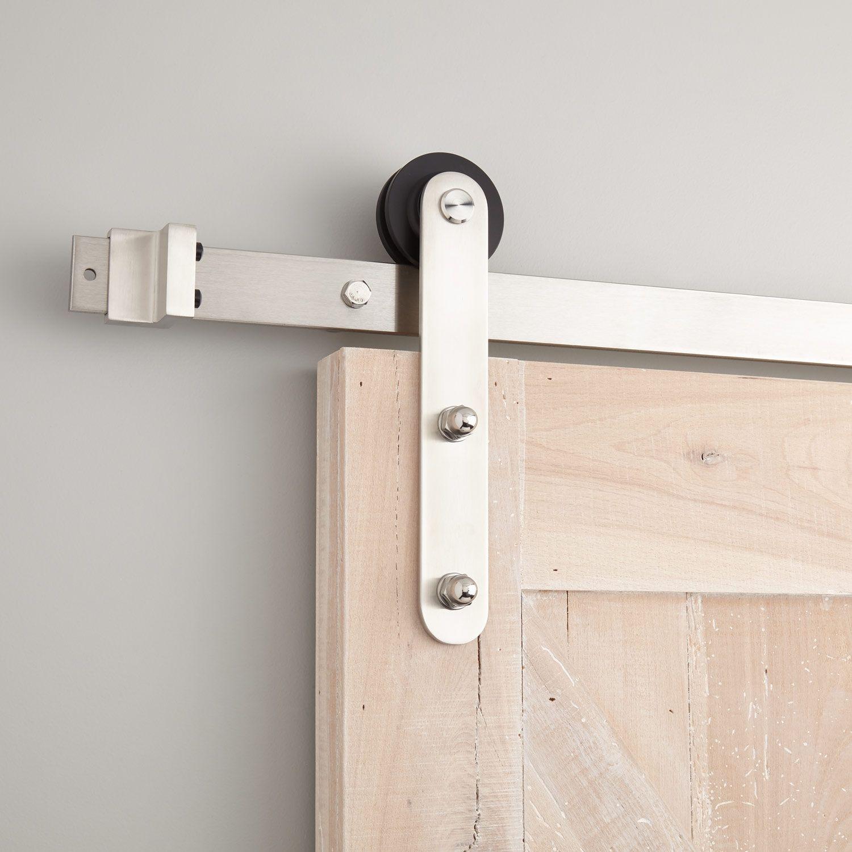 Emile Barn Door Hardware - Stainless Steel