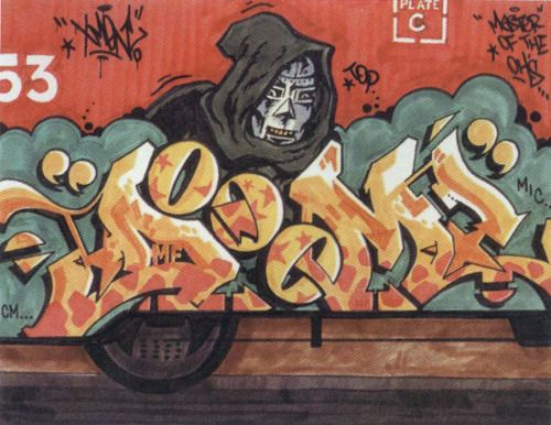 MF Doom Graffiti 2 Wallpaper From A Picture Of Some Is An American Rapper Known For His Many Alter Egoes