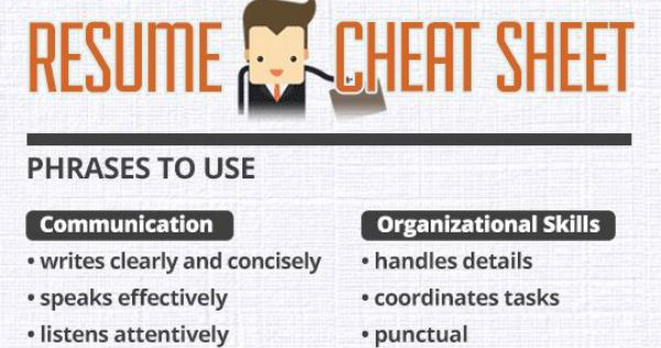 Resume Cheat Sheet – Infographic | Meme Collection | Pinterest ...