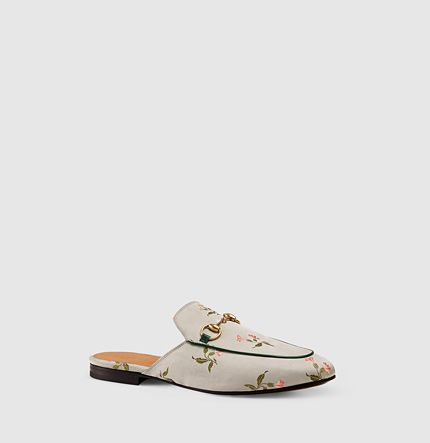 Gucci - Princetown Slipper aus Blumenjacquard 423514KY1605363