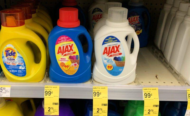Ajax Laundry Detergent Just 0 99 At Walgreens No Coupons Needed Ajax Laundry Detergent Laundry Detergent Homemade Laundry Detergent
