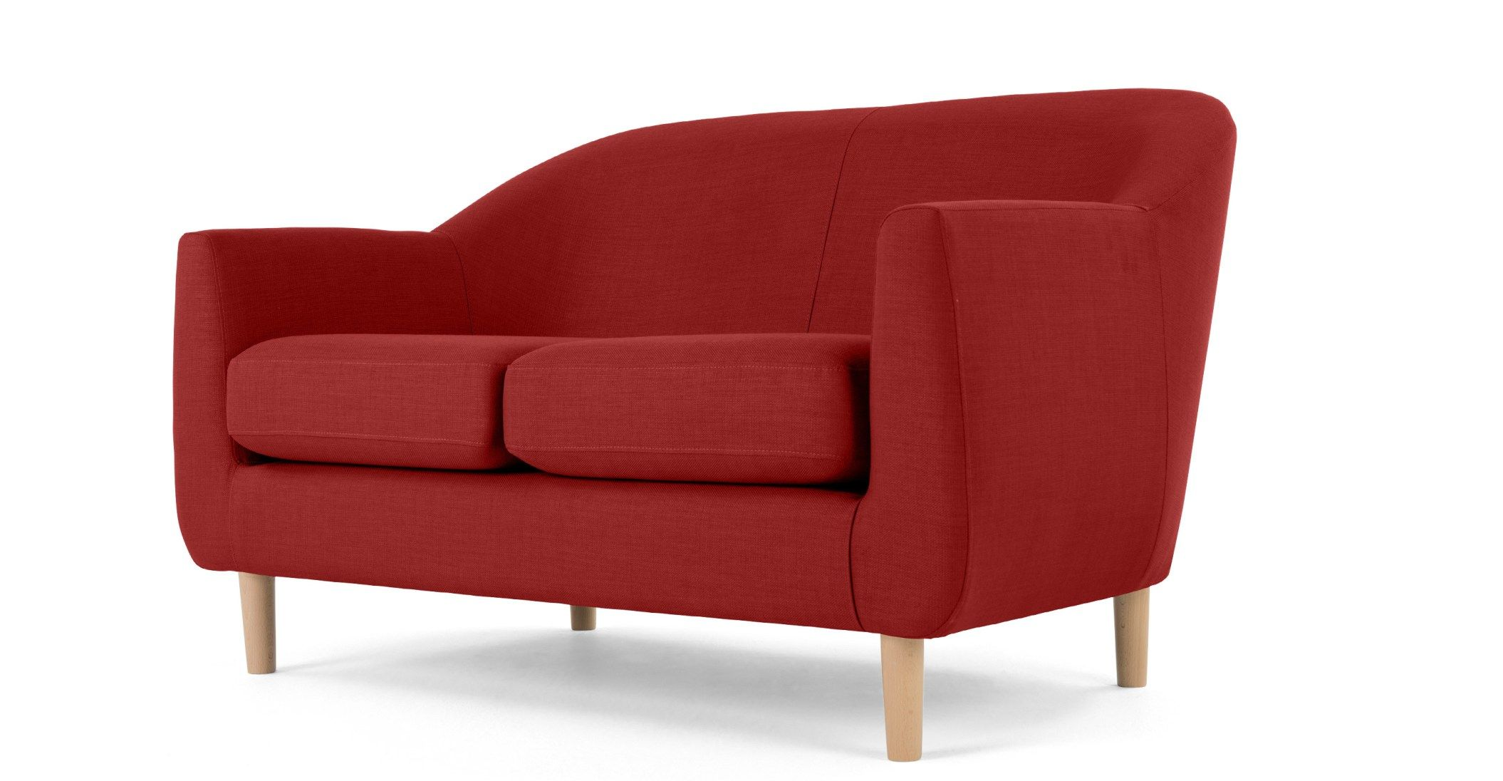 Tubby 2 Seater Sofa Postbox Red In 2020 2 Seater Sofa Seater Sofa Red Sofa