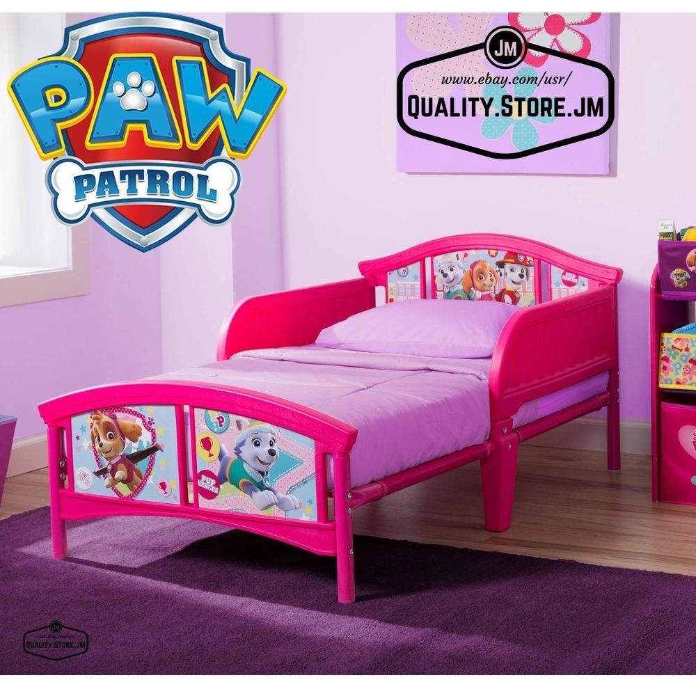 Toddler Beds For Girls Bedroom Furniture Kids Paw Patrol Pink Bed