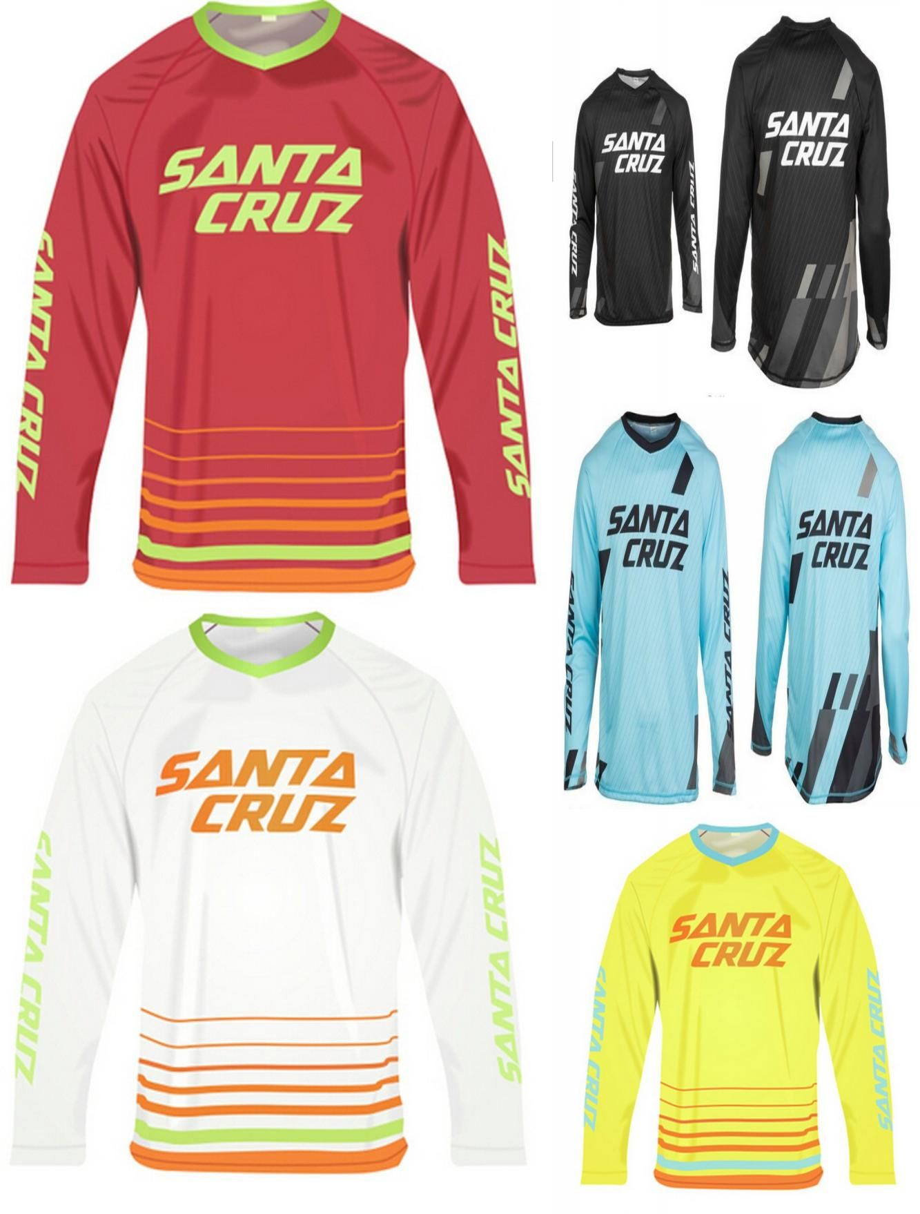 Visit to Buy  2016 New SANTA CRUZ MTB Downhill Jersey Long sleeve Bike DH 08a53ac9e