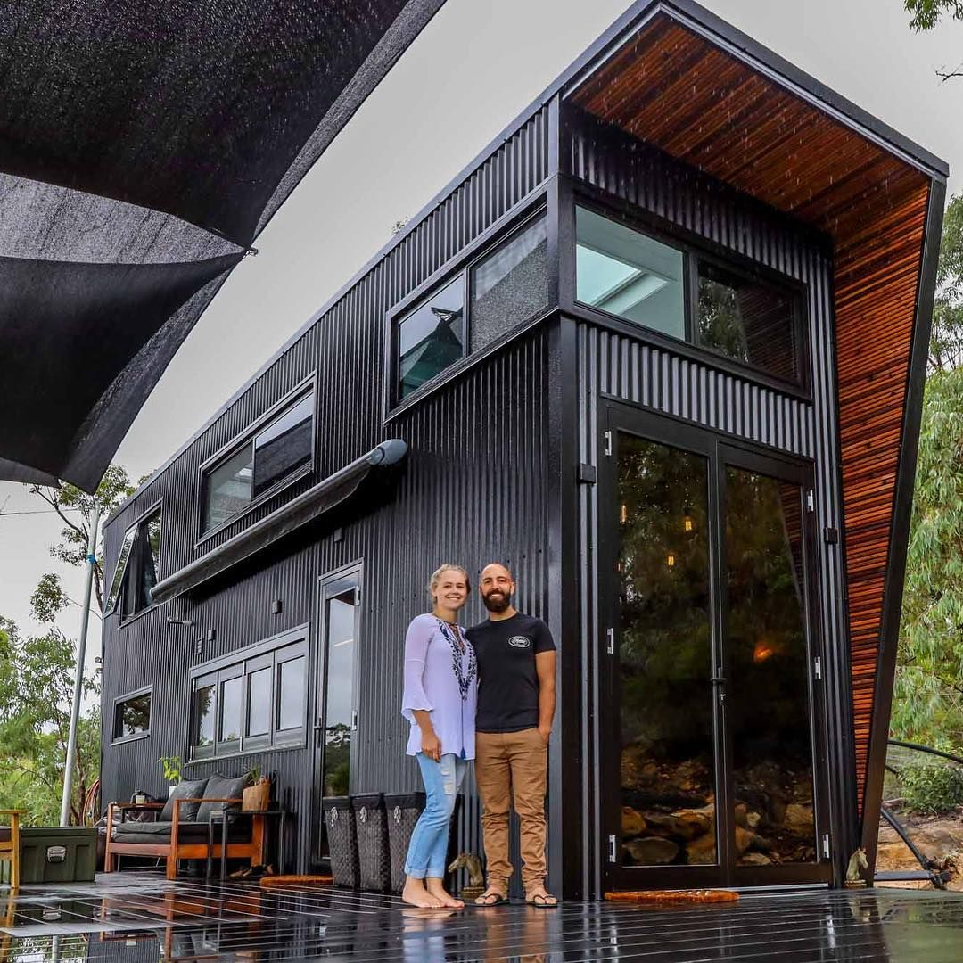 Living Big In A Tiny House On Instagram This Weeks Tiny House Tour Is Now Live On Youtube Check Out Th Tiny House Exterior Modern Tiny House Container House