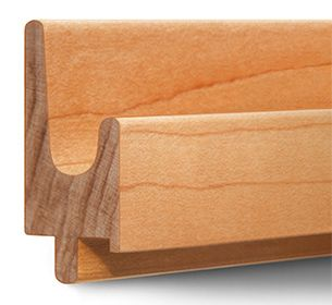 Hardwood Finger Pull Molding Drawer Pulls For All Cabinets Furniture Handles Kitchen Door Handles Cupboard Design