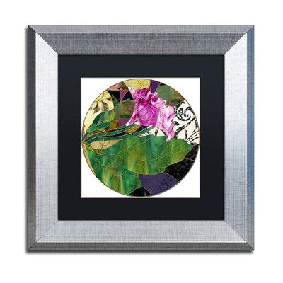 "Trademark Art 'Glassberry I' Framed Graphic Art Size: 11"" H x 11"" W x 0.5"" D, Mat Color: Black"