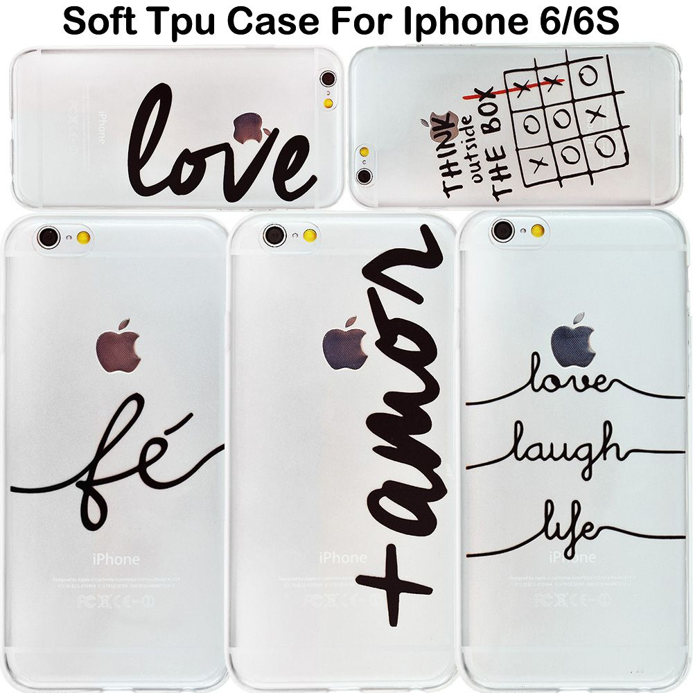 Nique Portuguese Words Love Amor Design Transparent Soft Silicon Phone Case Back Cover For Iphone 7 7 Plus 5 5s 6 6s Case Iphone Iphone 7 Amor