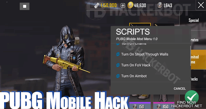 PUBG Mobile Hack Mods, Aimbots, Wallhacks and Cheats for