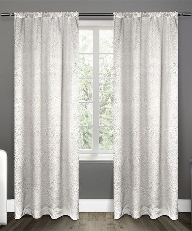 Winter Embossed Satin Curtain Panel Set Of Two Zulily