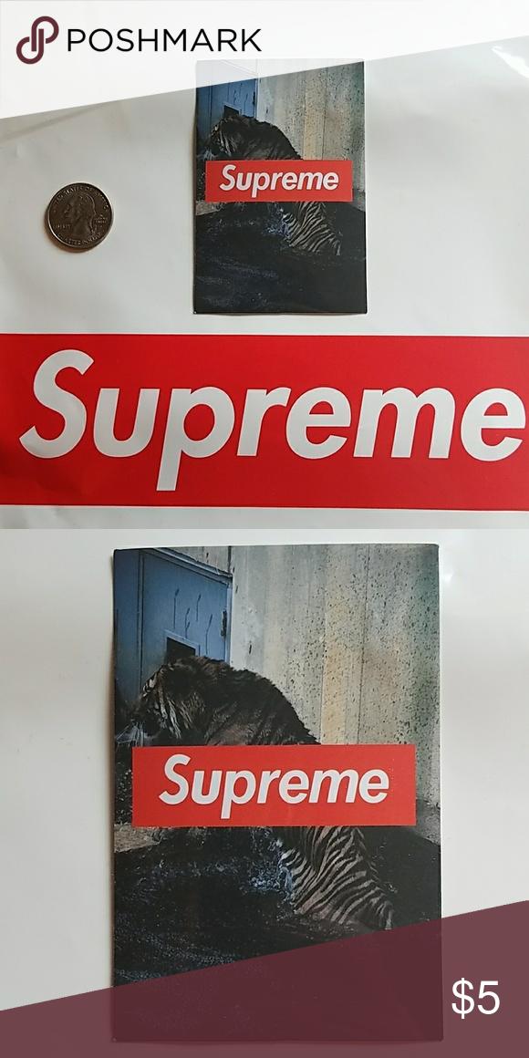 Supreme Tiger Vinyl Sticker Supreme Tiger Vinyl Sticker - Bundle for discount! Supreme  Accessories