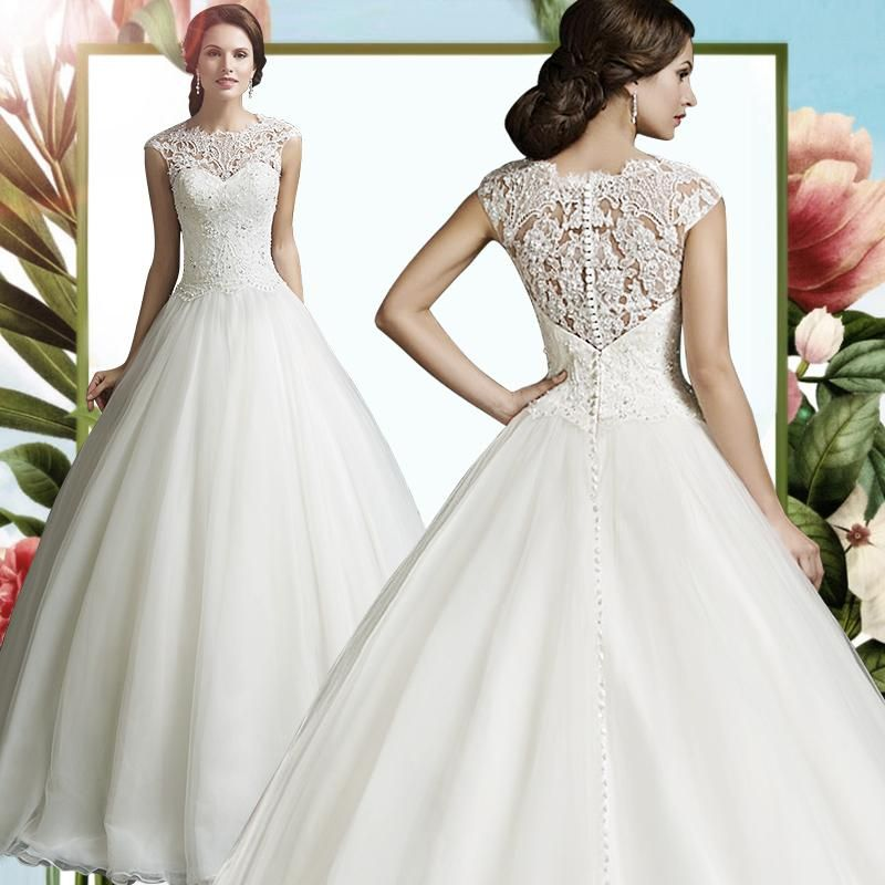 2017 New Fashion Full Lace Vintage Wedding Dresses Off Shoulder Long ...