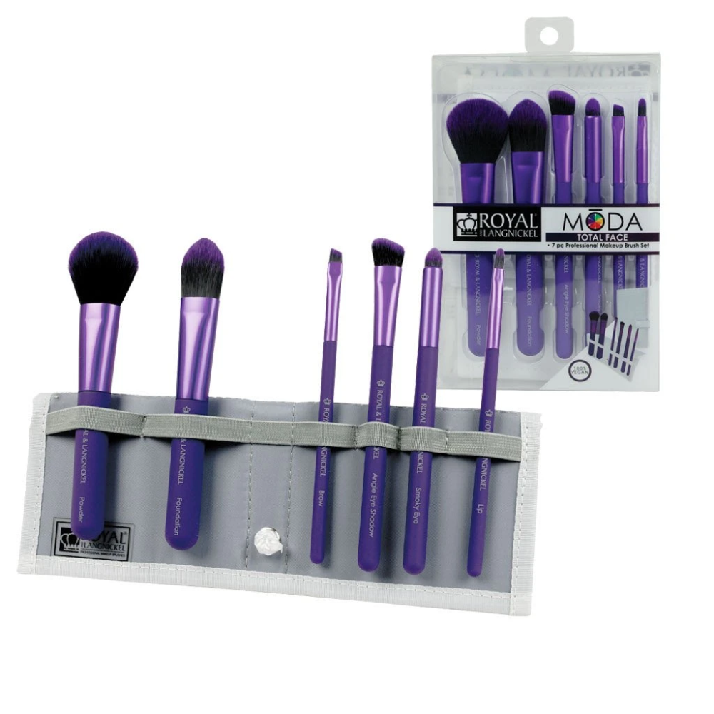 MŌDA® Total Face 7pc Brush Kit Purple in 2020 (With
