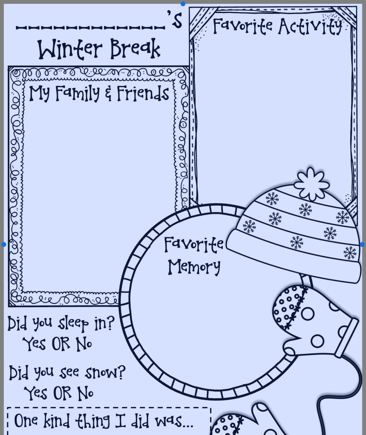 Over The Winter Break
