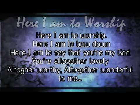 Here I Am To Worship Tim Hughes Worship Video With Lyrics Worship Videos Worship Songs Worship Worship together is the best and most comprehensive resource on the web for worship leaders, worship bands and worship teams. here i am to worship tim hughes