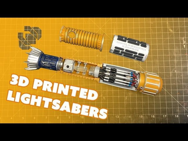 Assembling 3D Printed Lightsabers with the 3D Printing Nerd