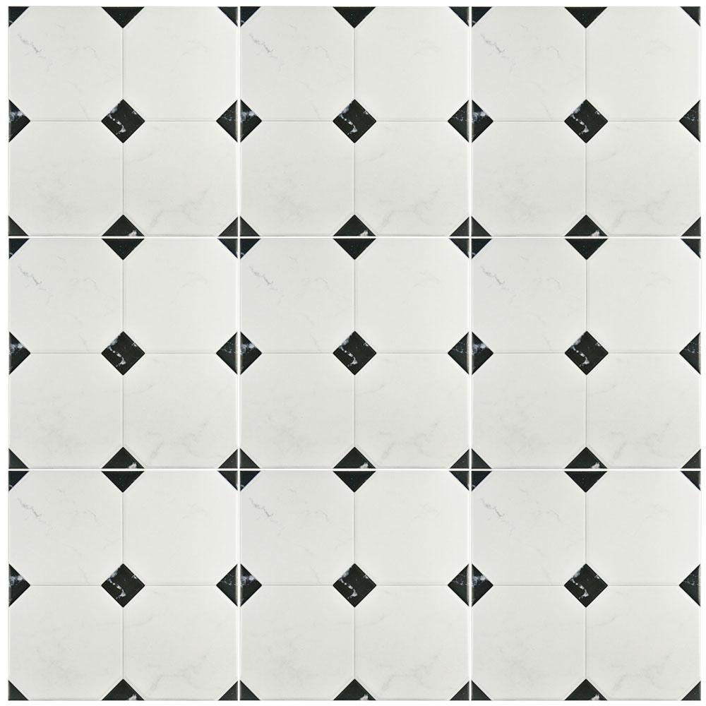 Merola Tile Betera Jet Blanco 13 1 8 In X 13 1 8 In Ceramic Floor And Wall Tile 10 76 Sq Ft Case Fem13btb Ceramic Floor Elitetile Floor And Wall Tile
