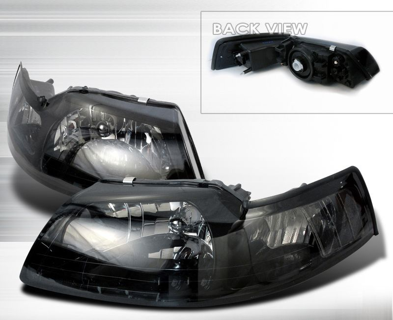 FOR 99-04 FORD MUSTANG NEW EDGE//GT SMOKED LENS OE BUMPER DRIVING FOG LIGHT PAIR