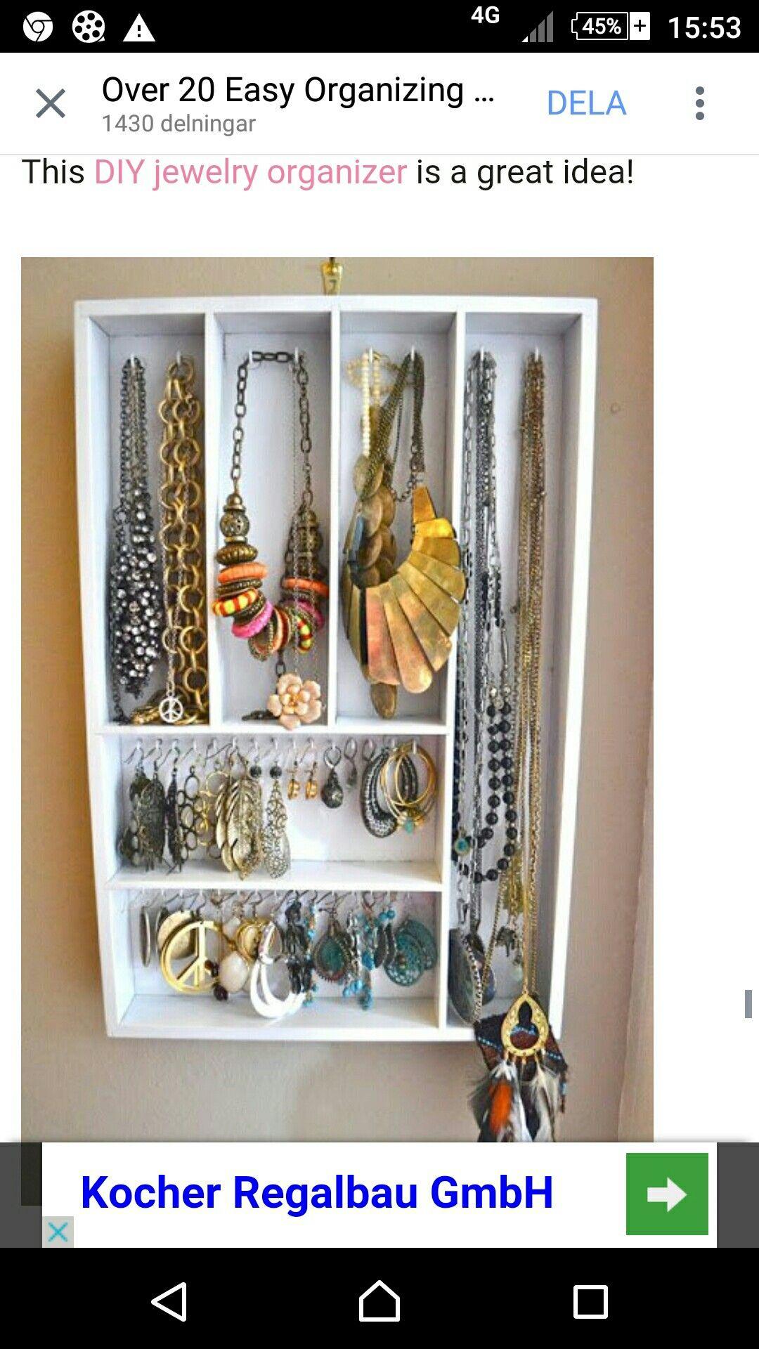 Smyckefrvaring Inredning Pinterest