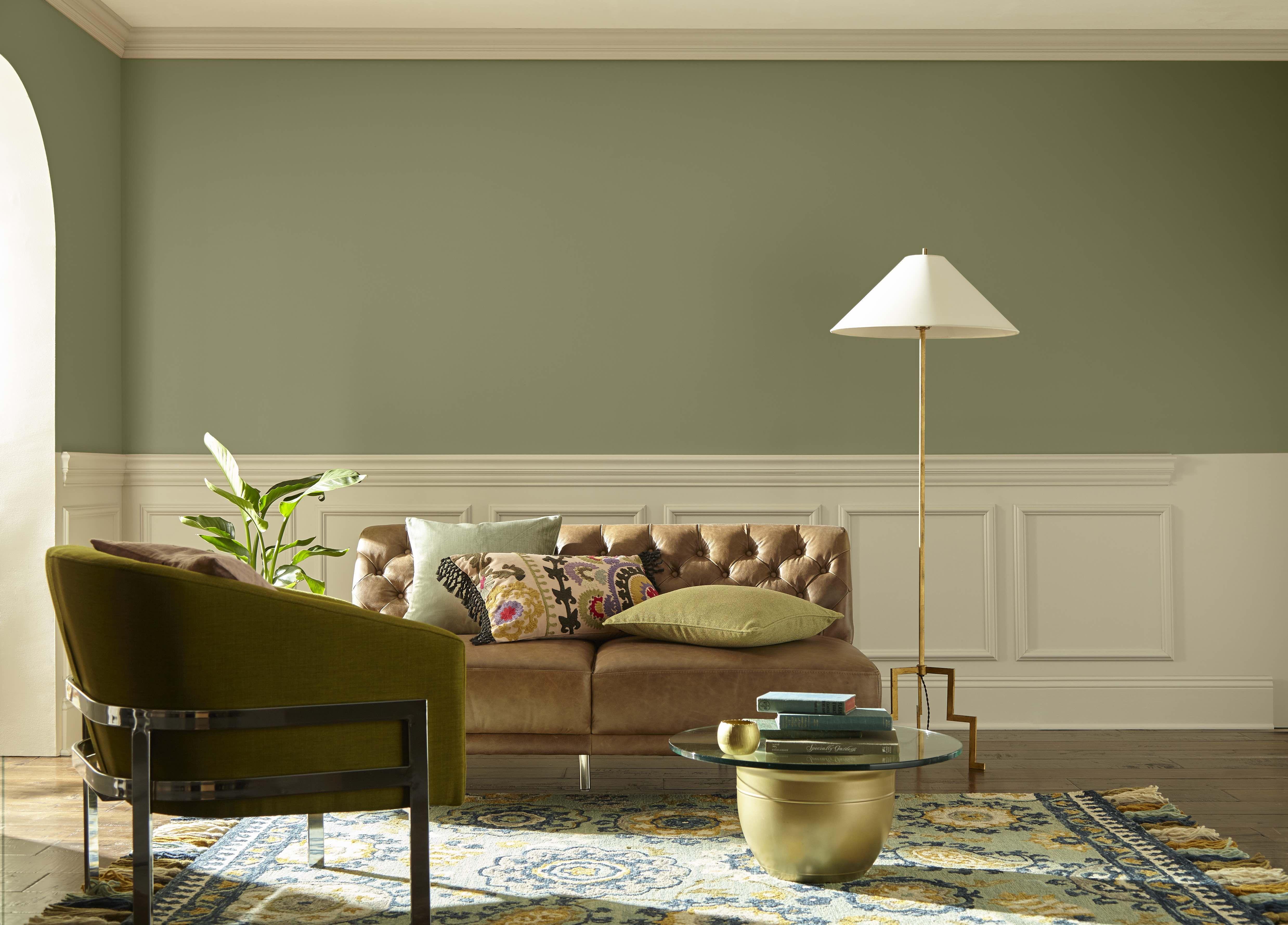 Living Room Green Wall Paint Colors Novocom Top