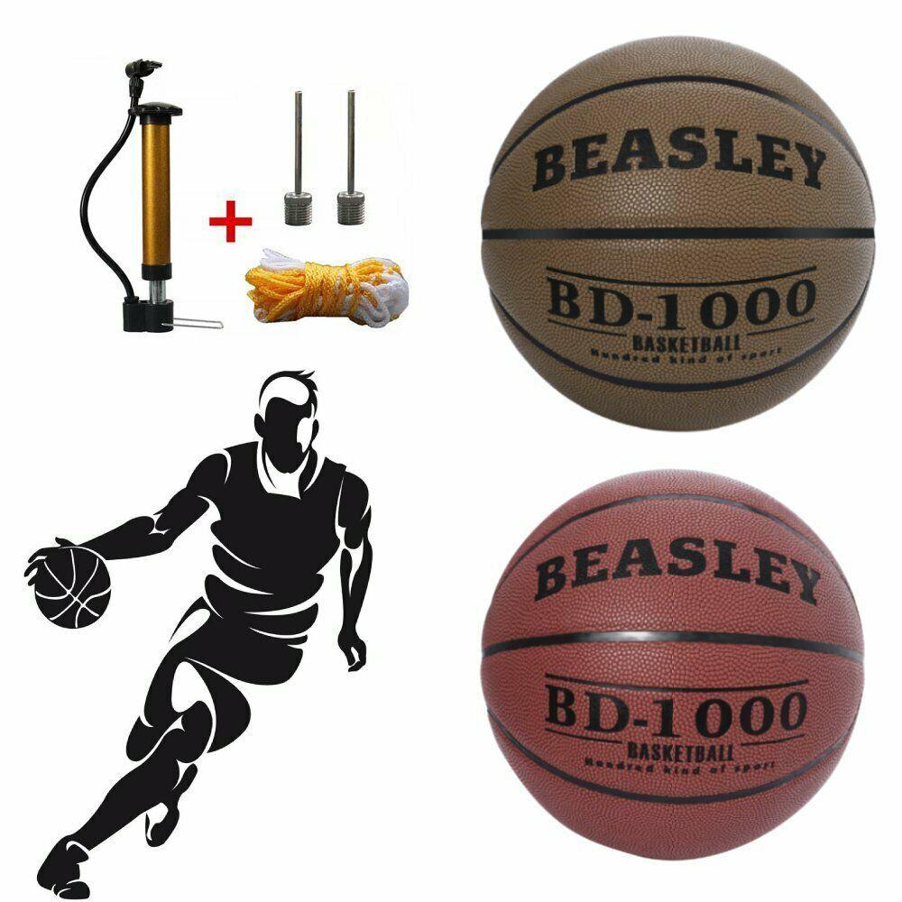 Advertisement Ebay Leather Basketball Outdoor Training Exercise Balls Pump Needles Net Size 7 Us Basketball Workouts Basketball Fitness Training