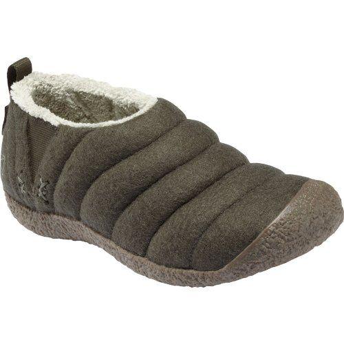 Keen Womens Howser Wool Slipper,Black Olive,6.5 M US - Panty Hoarder