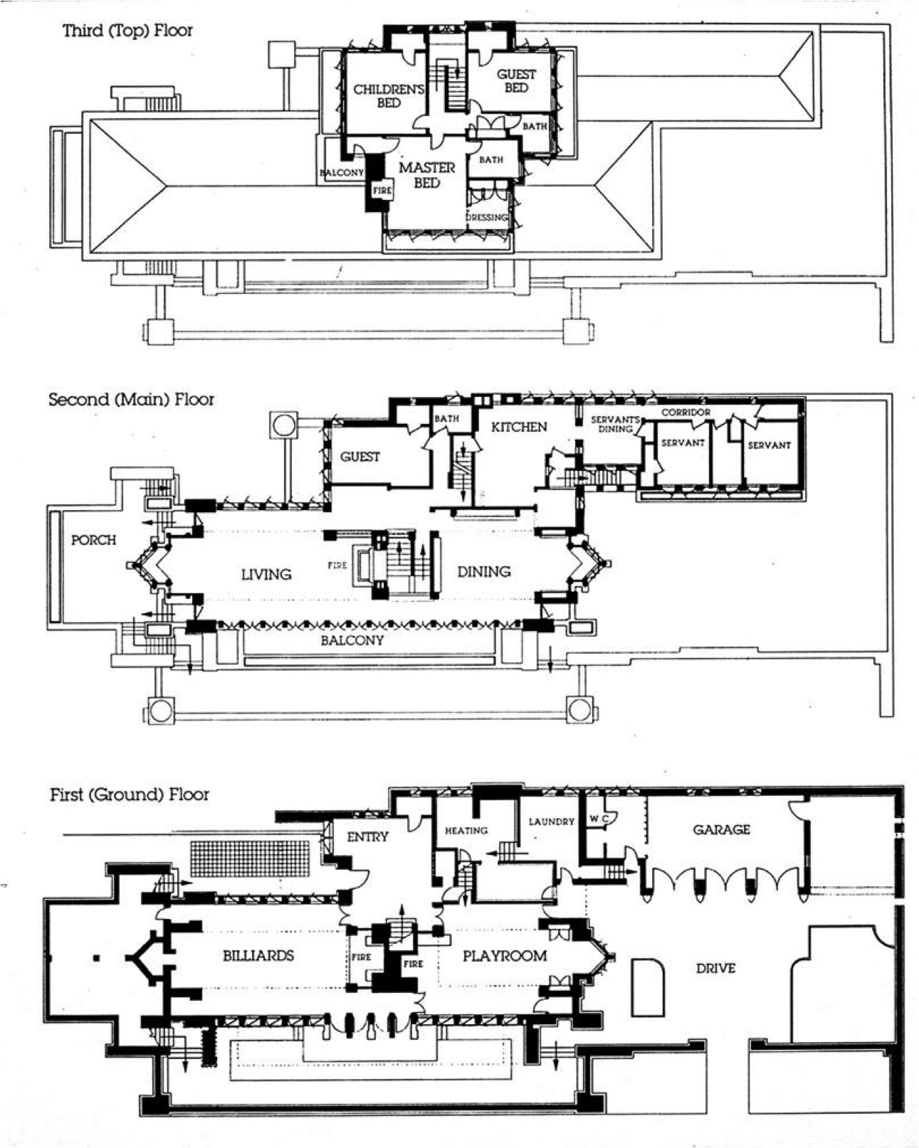 Frank lloyd wright house plans pesquisa google plans Frank lloyd wright floor plan