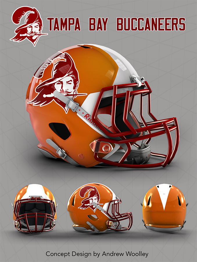 2a5797a81 NFL: Tampa Bay Buccaneers concept Revo speed helmet template available @  http://