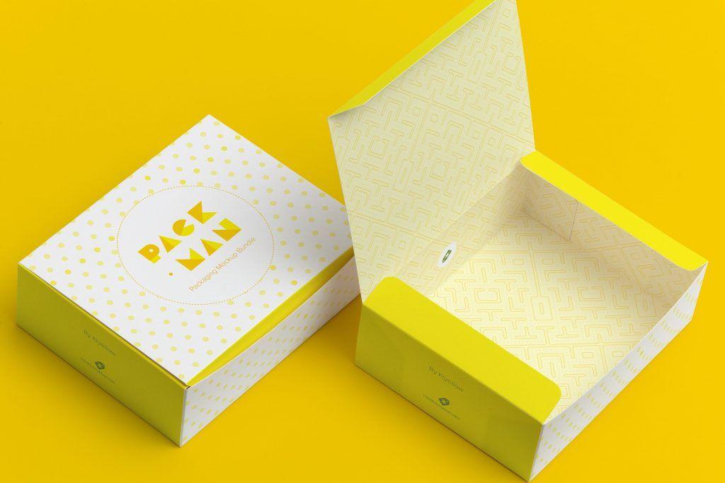 Download Free Paper Box Mockup Uxfree Com Box Mockup Packaging Mockup Sweet Box