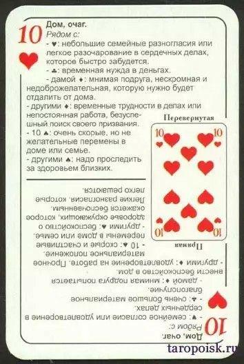 гадании 36 карт толкование