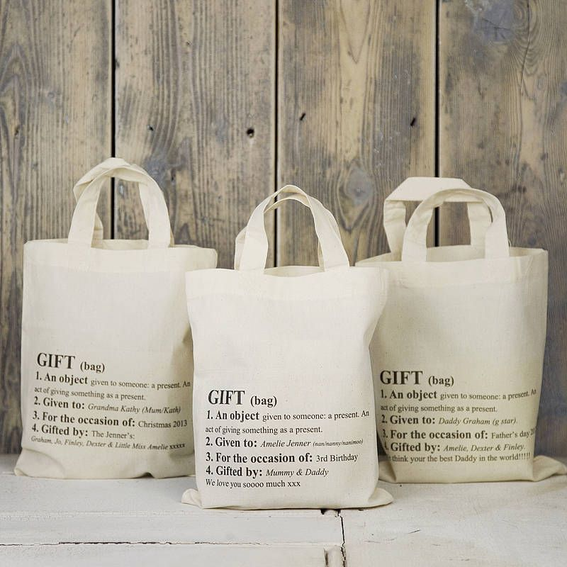 Personalised Definition Gift Bag | Definitions, Bag and Gift
