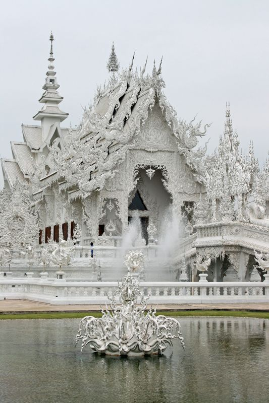 Wat Rong Khun (white temple), Chiang Rai, Thailand  coffeeoath.com