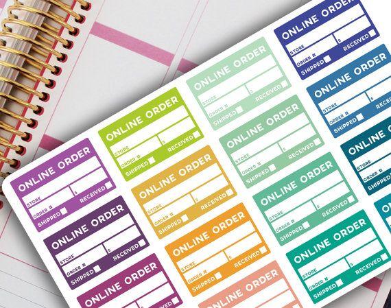 bef72e7defe76 ONLINE ORDER TRACKER Planner Stickers, Erin Condren, Bullet Journal ...