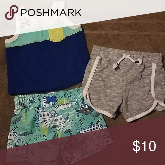 5f04a57aed Infant boy's swim trunk and shorts set from Target Infant swimming trunks  with matching tank top and gray shorts. Cat & Jack Swim Swim Trunks