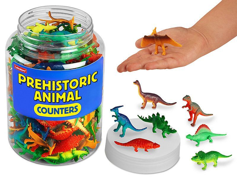 Prehistoric Animal Counters #prehistoricanimals Prehistoric Animal Counters at Lakeshore Learning #prehistoricanimals