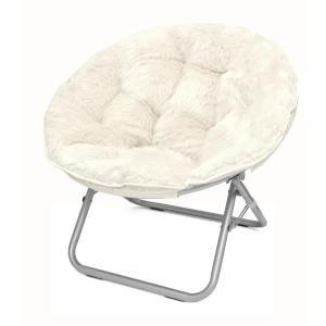 Idea Nuova Mongolian White Folding Chair K656241 At The Home Depot