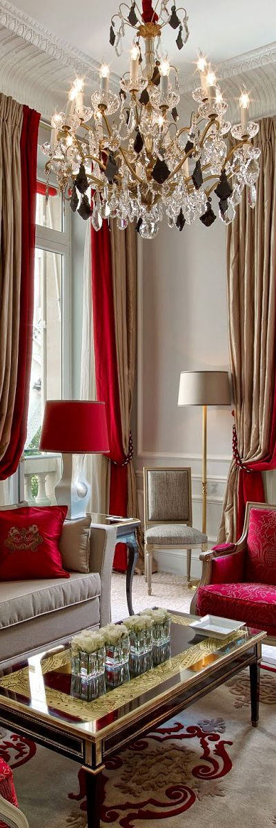 French Style Living Room Design Pinterest Cortinas