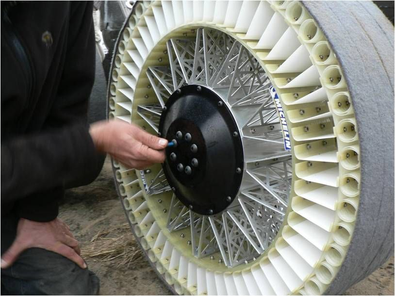 2004 Travel Into The Future Michelin Tweel Another Puncture Proof Retreadable Solution The Name Tweel Is The Contrac Michelin Wheel Wheels And Tires