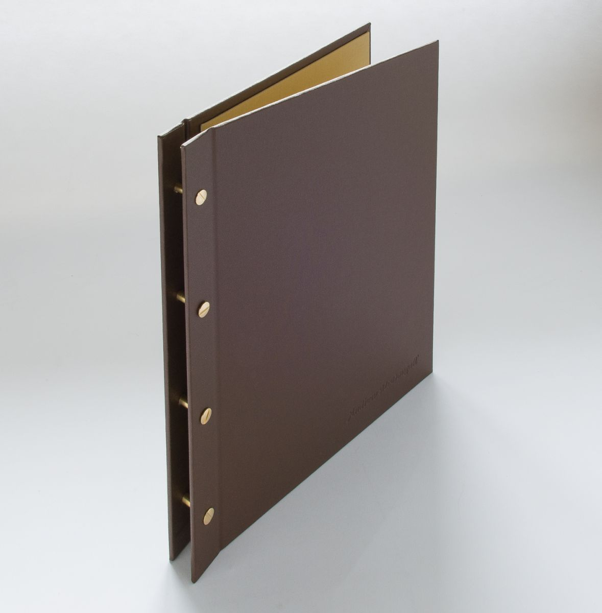 fabric covered exposed screw post portfolio binder