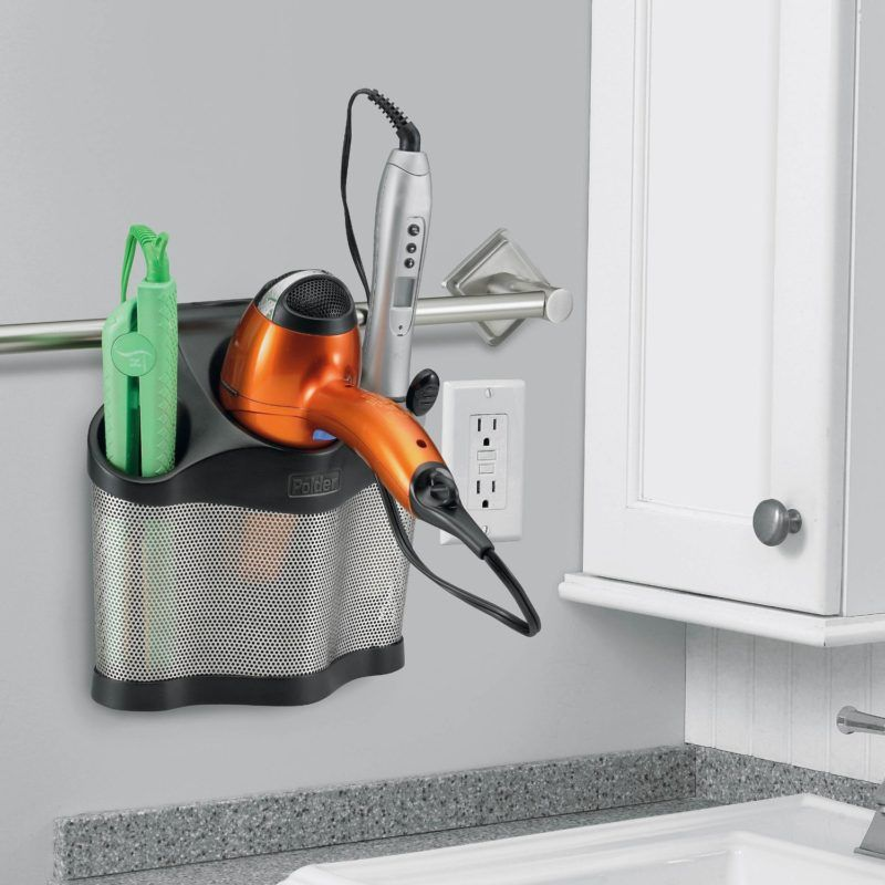 7 Bathroom Storage Ideas For Hair Tools In A Hanging Caddy You Ve Likely Already Got A T Bathroom Organisation Hair Tool Organizer Bathroom Organization