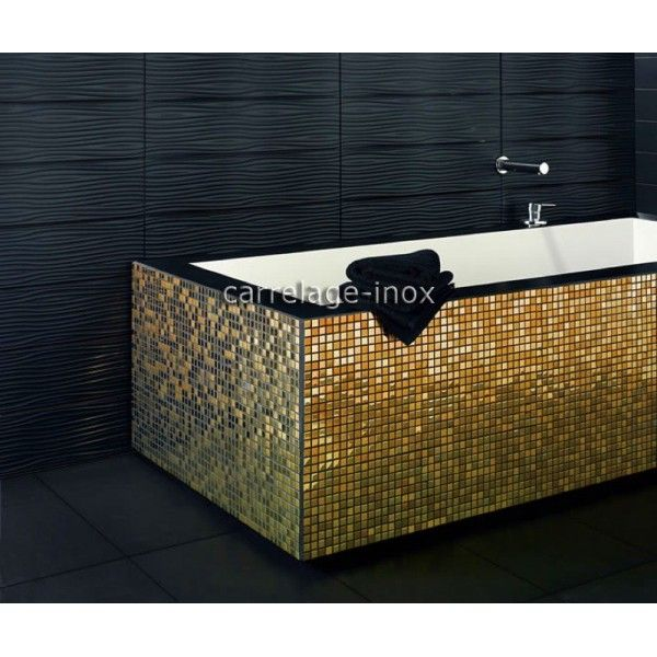 carrelage inox dore mosaique faience GOLD MIX 15 | Mosaique