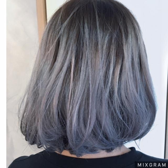 Rambut Ash Gray Purple Novocom Top