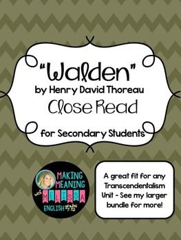 an analysis of walden by thoreau Introduction to the text structure this book is not a novel, a narrative poem, or a play there is no clear story line, no plot line nor is it autobiography, although much of it is based on thoreau's life at walden pond.