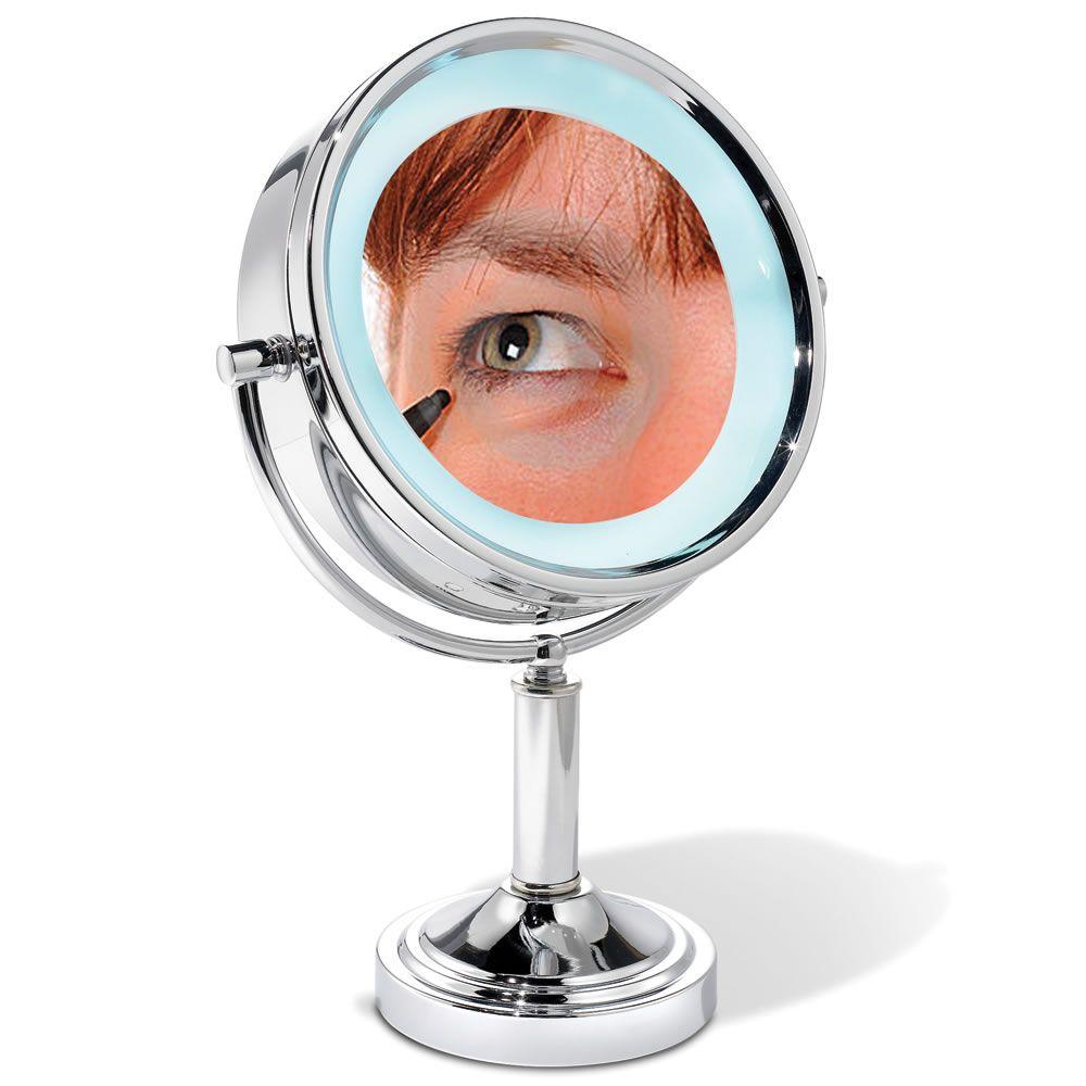 The 15x Magnifying Vanity Mirror Hammacher Schlemmer Mirror Cosmetic Mirror Makeup Mirror